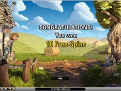 Free spins screen