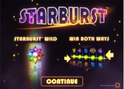 starburst intro screen