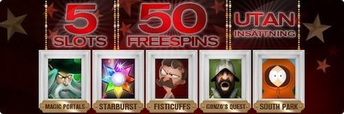 50 free spins november