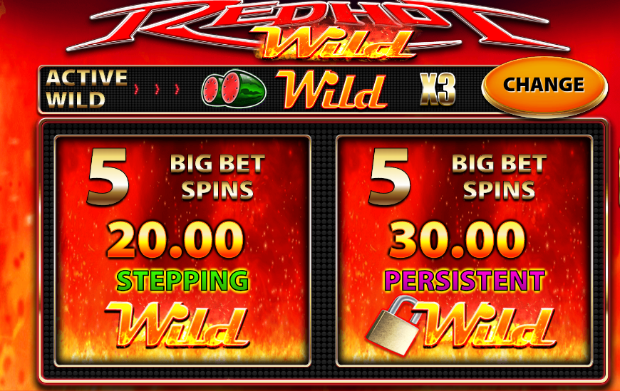 Red Hot Wild Big bet
