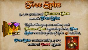 Rogue Treasure Free Spins