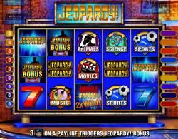 Jeopardy slot reels