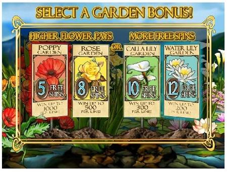 In Bloom slot bonus game