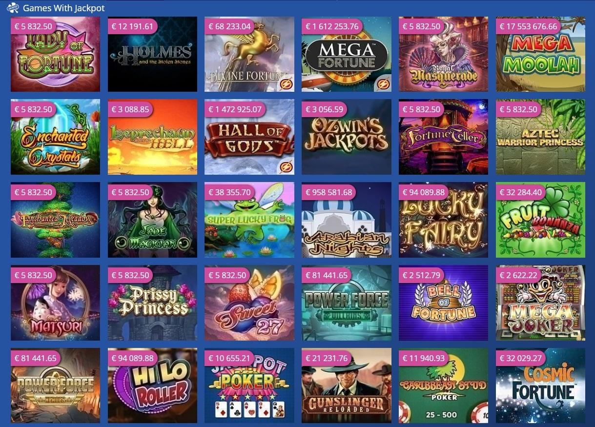 Casino Heroes Slots Lobby