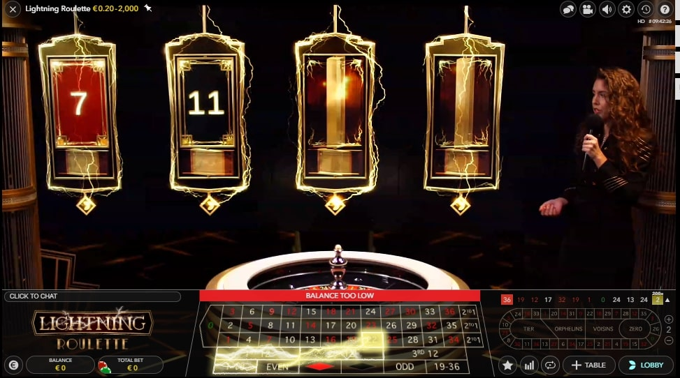Lightning Roulette at Casino Joy