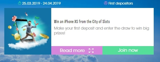 Win an iphone with Sloty