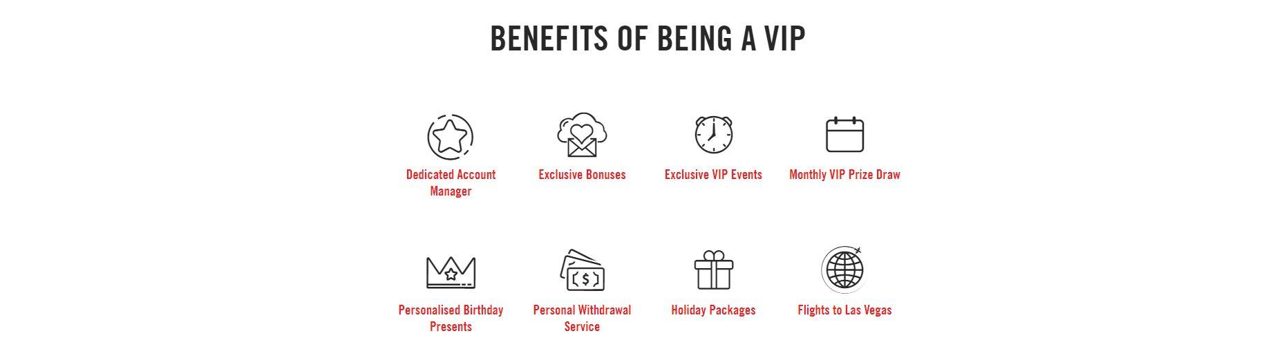 VIP Benefits at Vegas Hero