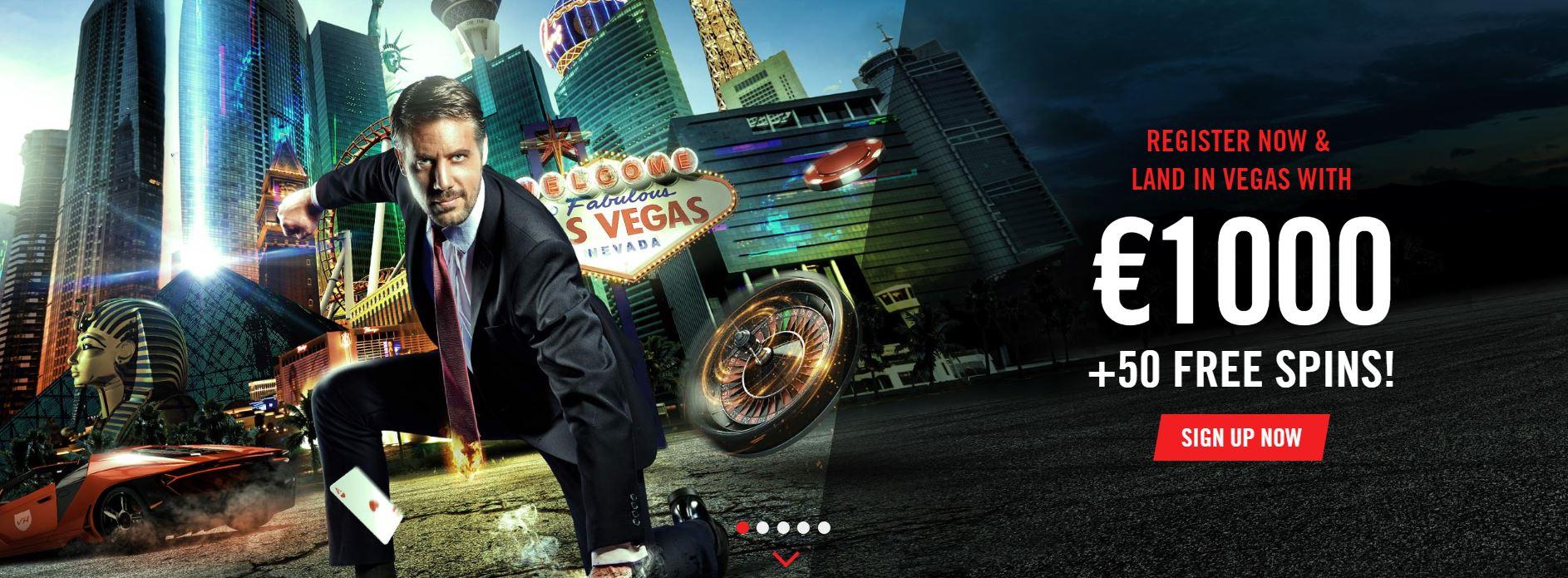 Welcome bonus offer at Vegas Hero