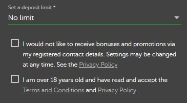 Deposit Limits