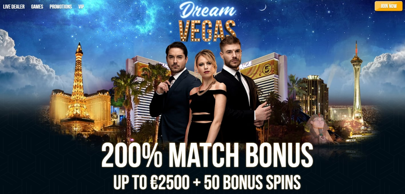 Dream Vegas welcome bonus
