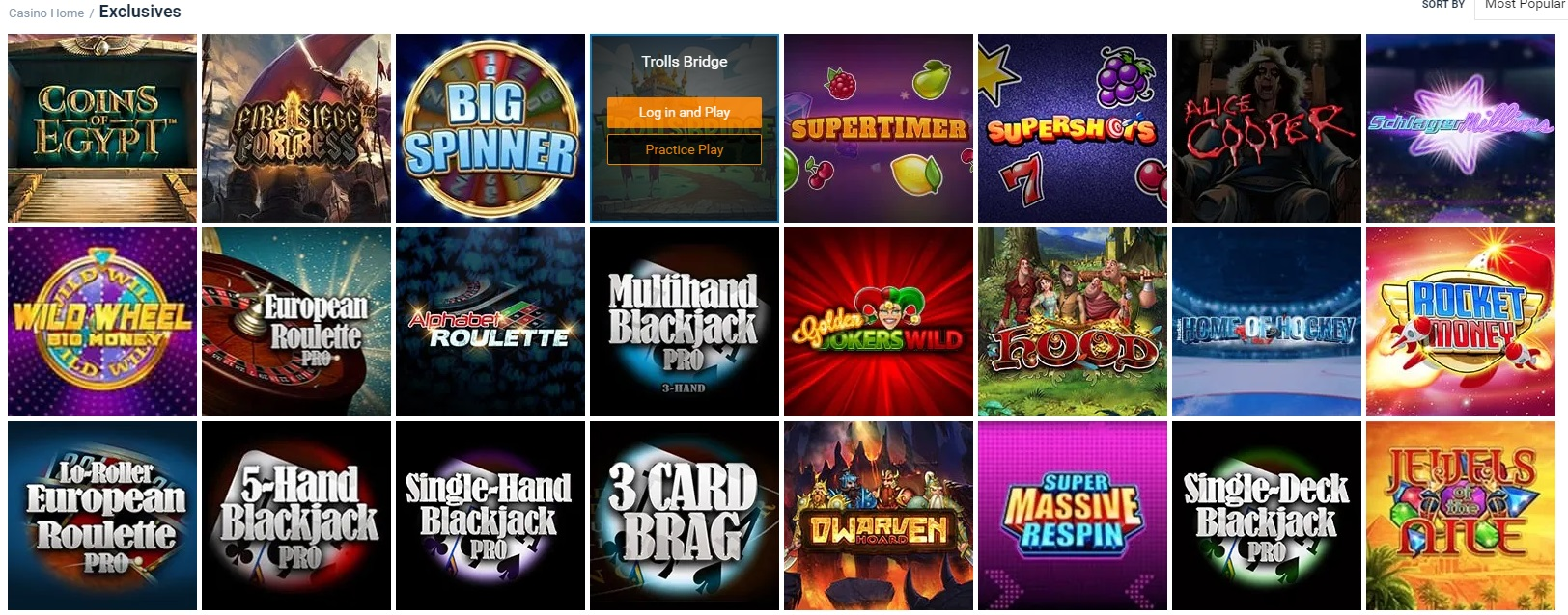 Exclusive Slots at Nordicbet
