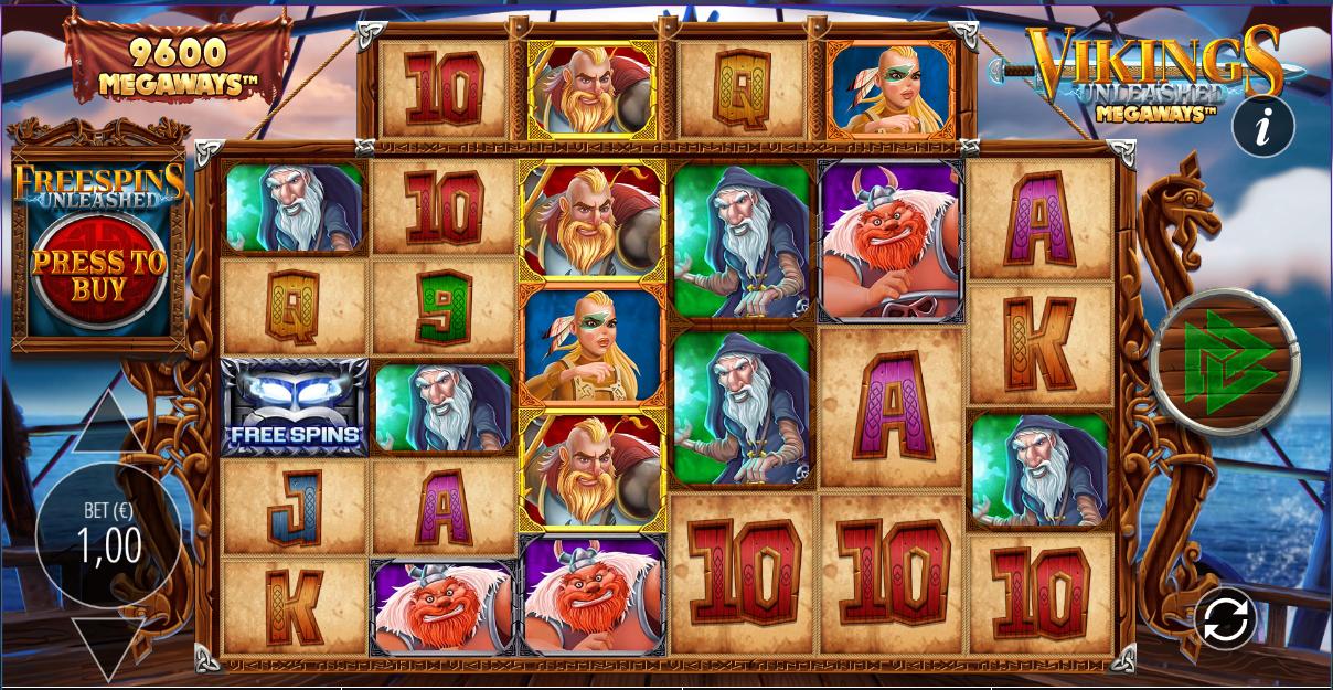 Vikings Unleashed Megaways Online Slot Machine Game Review