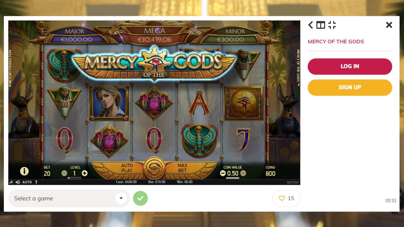 Full Screen Game Play at Winningroom