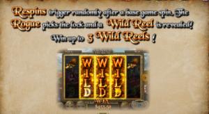 Rogue Treasure Re-spin - Online Slot Games