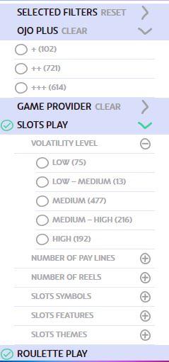 Casino Filter