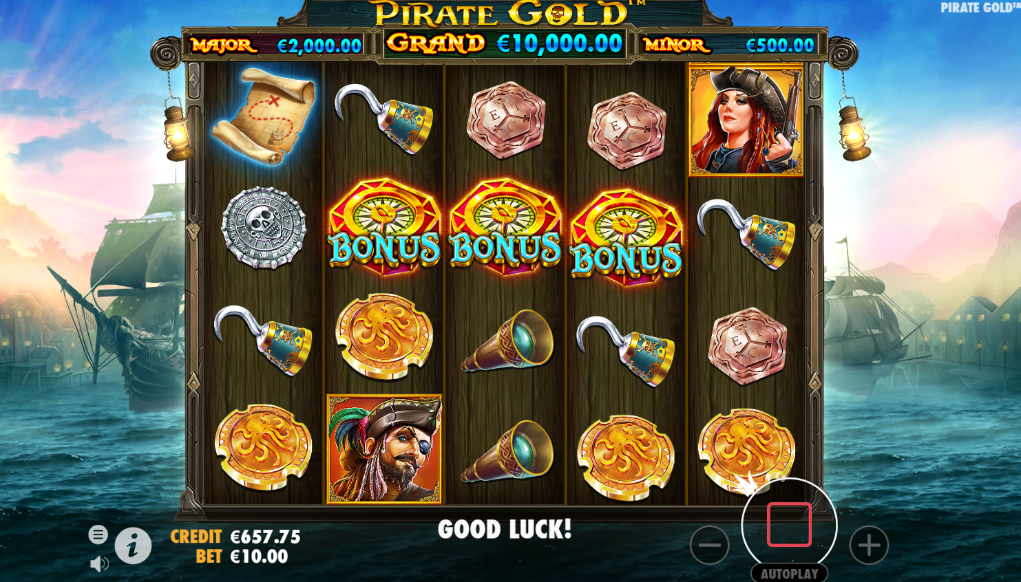 Pirates Gold bonus round
