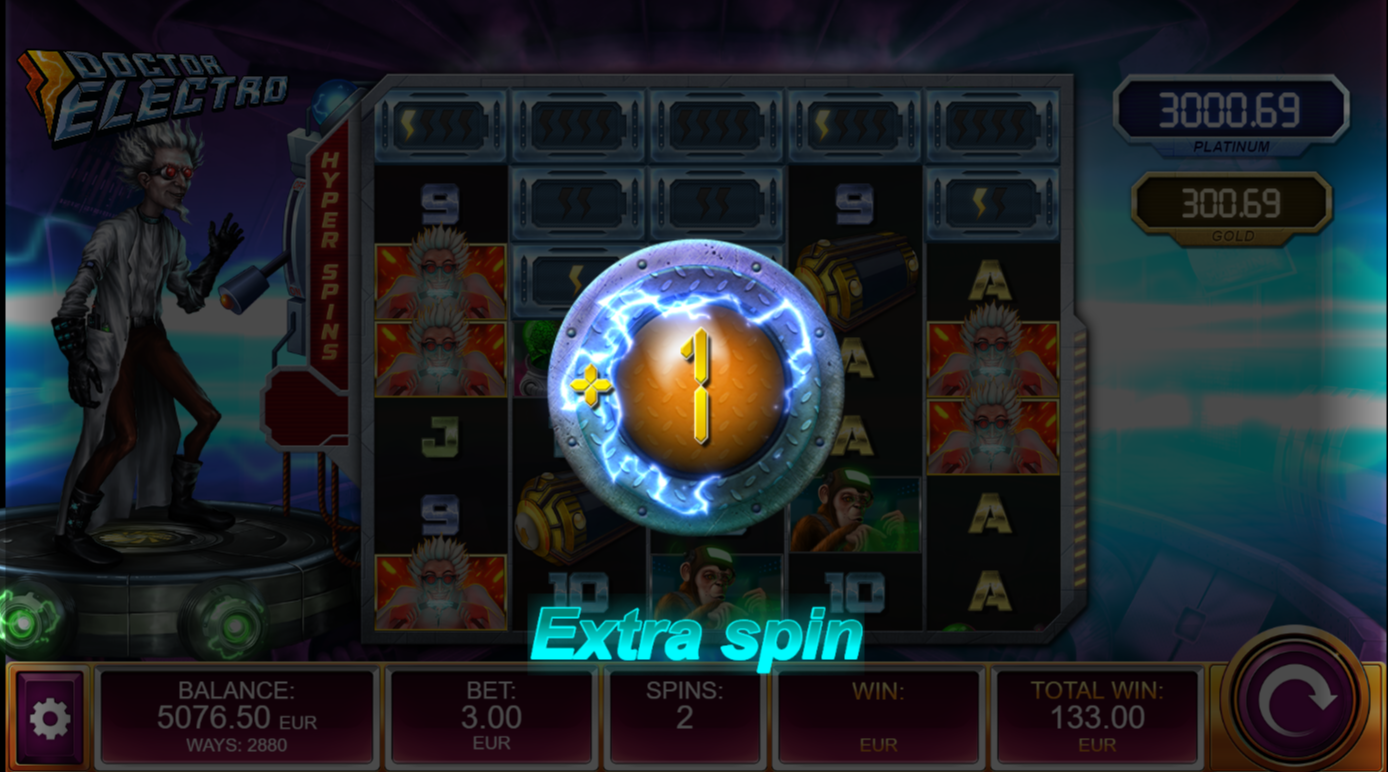 Extra Spin in Dr Electro slot