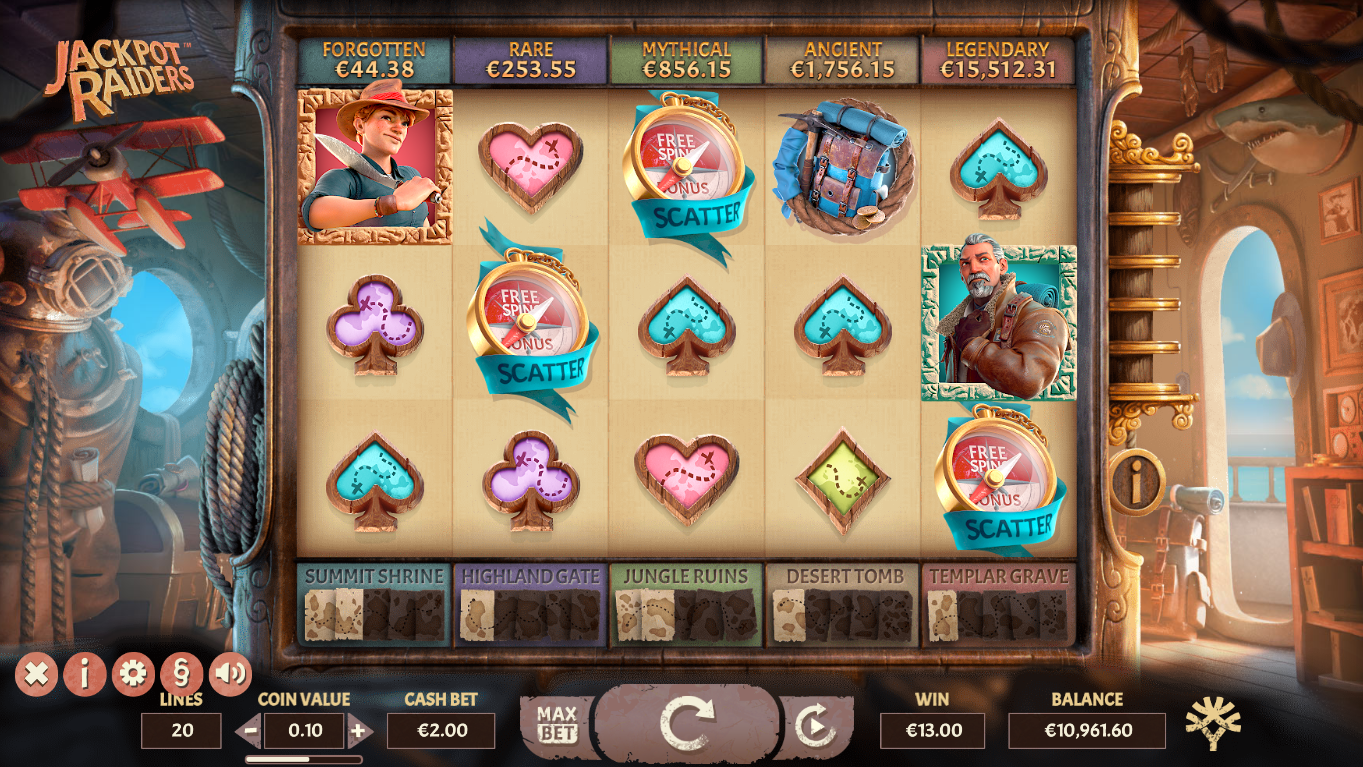 Scatter Symbol Feature - Jackpot Raiders