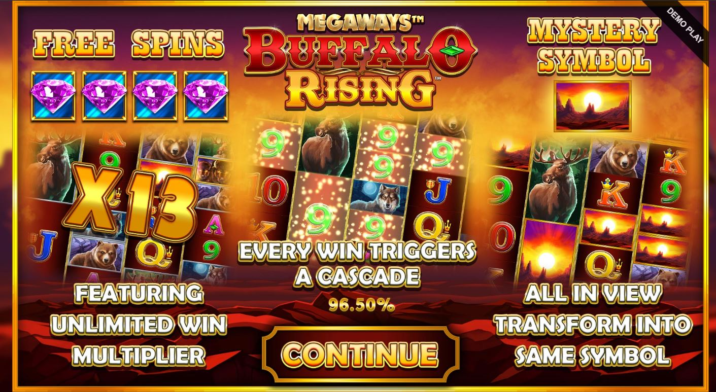 Features Page in Buffalo Rising Megaways