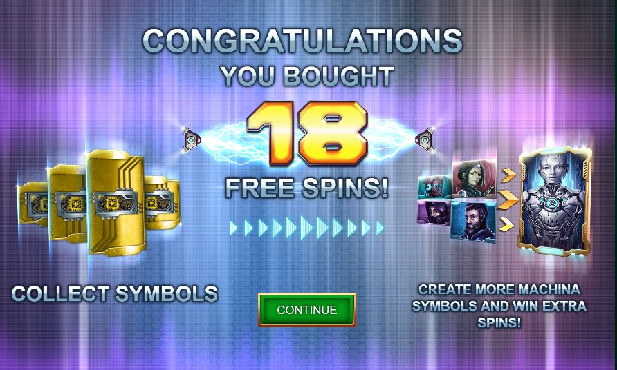 18 free spins