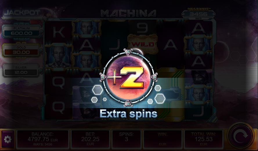Plus 2 free spins in Machina MegaWays