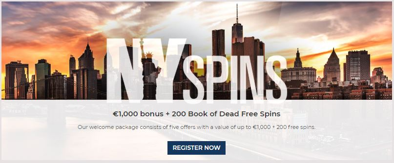 Welcome Bonus Package at NYSpins