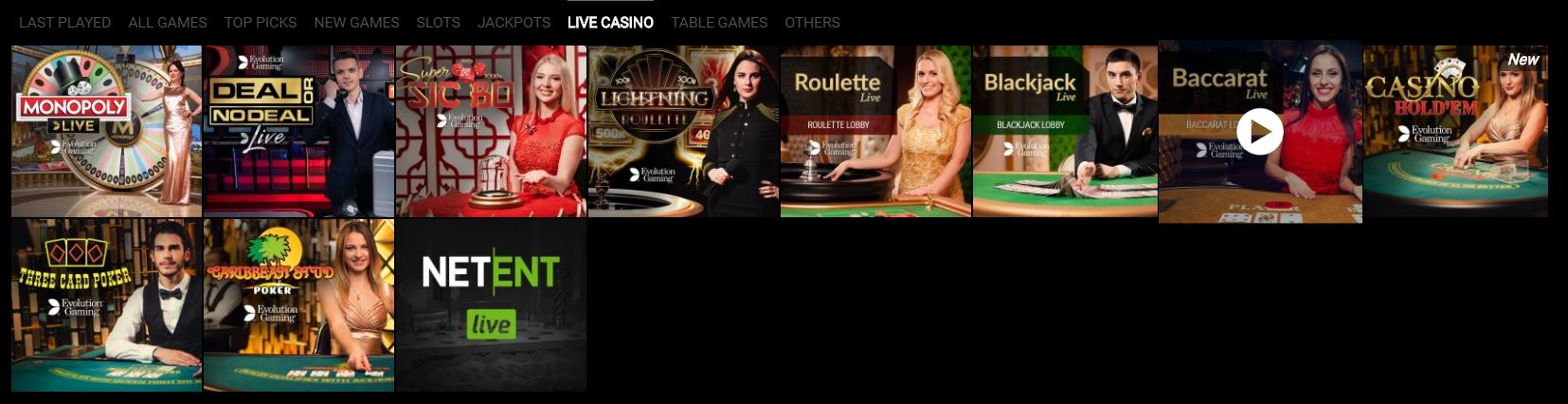 Live Casino at Voodoo Dreams