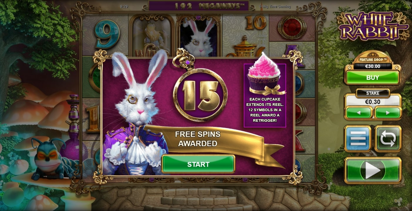 Free Spins Awarded on White Rabbit