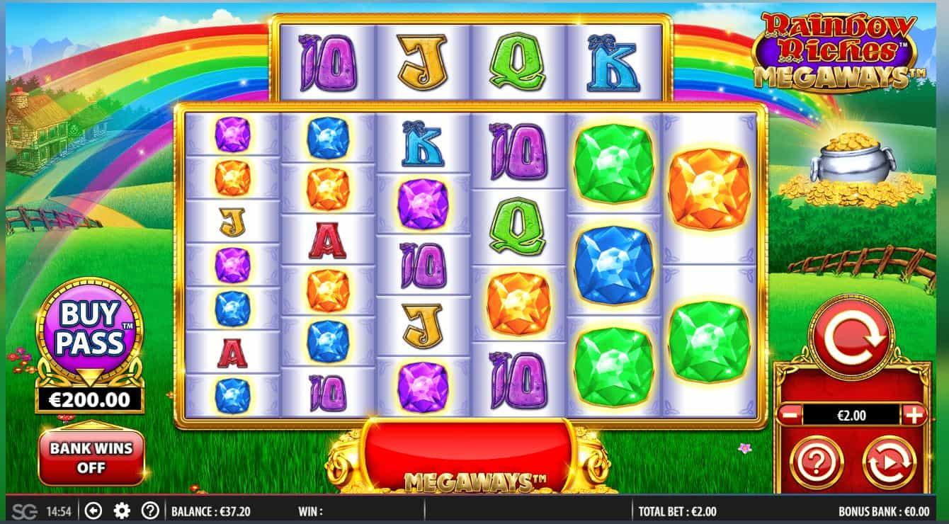 Rainbow Riches megaways reels