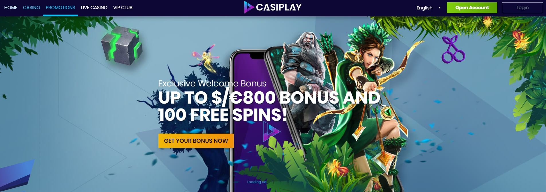Casiplay Online Casino Landing Page