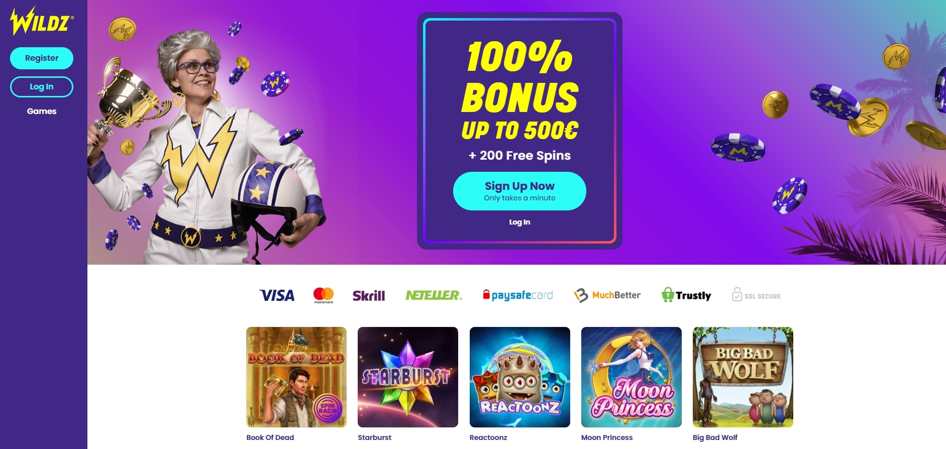 Wildz Online Casino Welcome Bonus