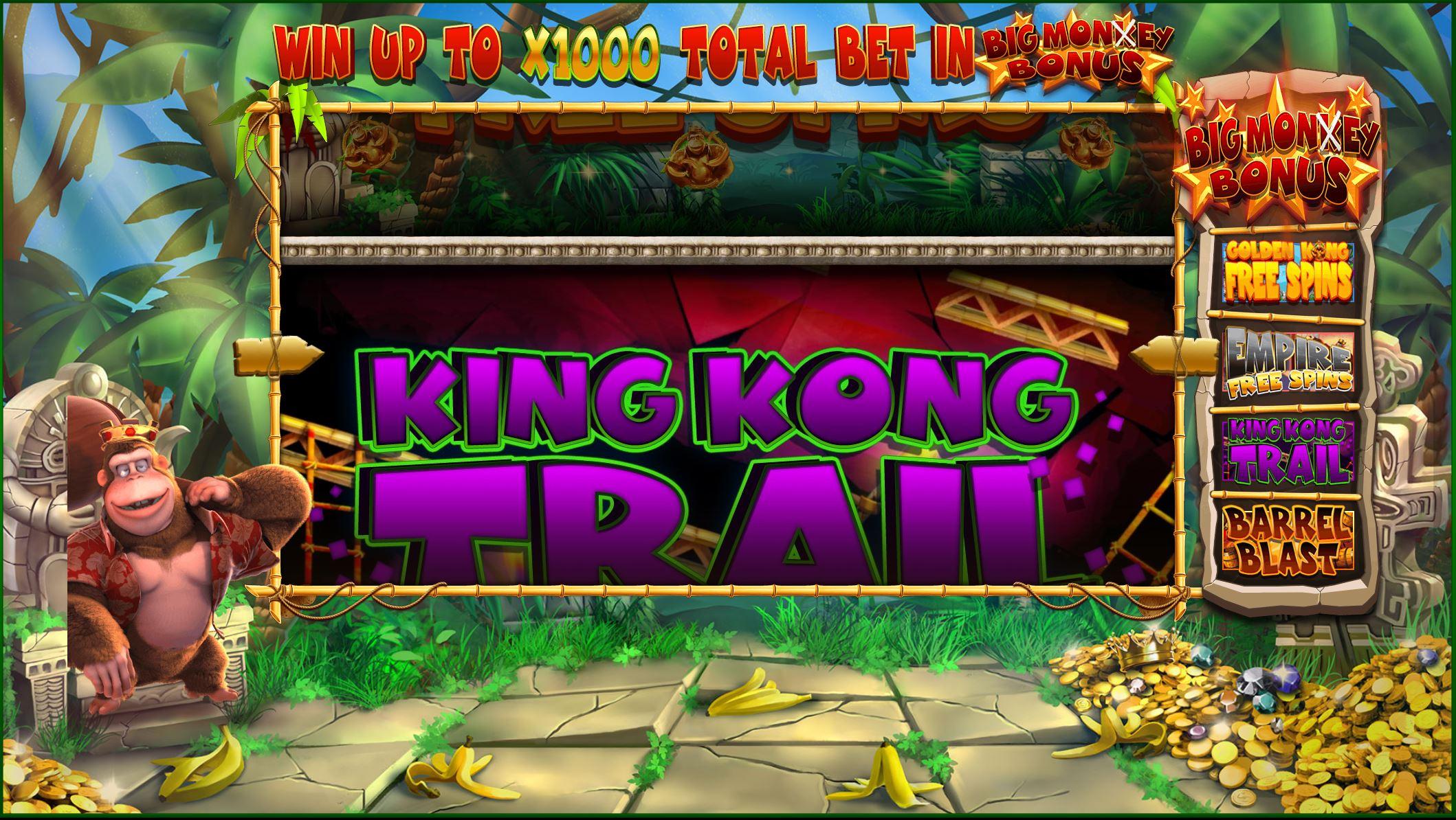 King Kong Cash bonus tombola wheel