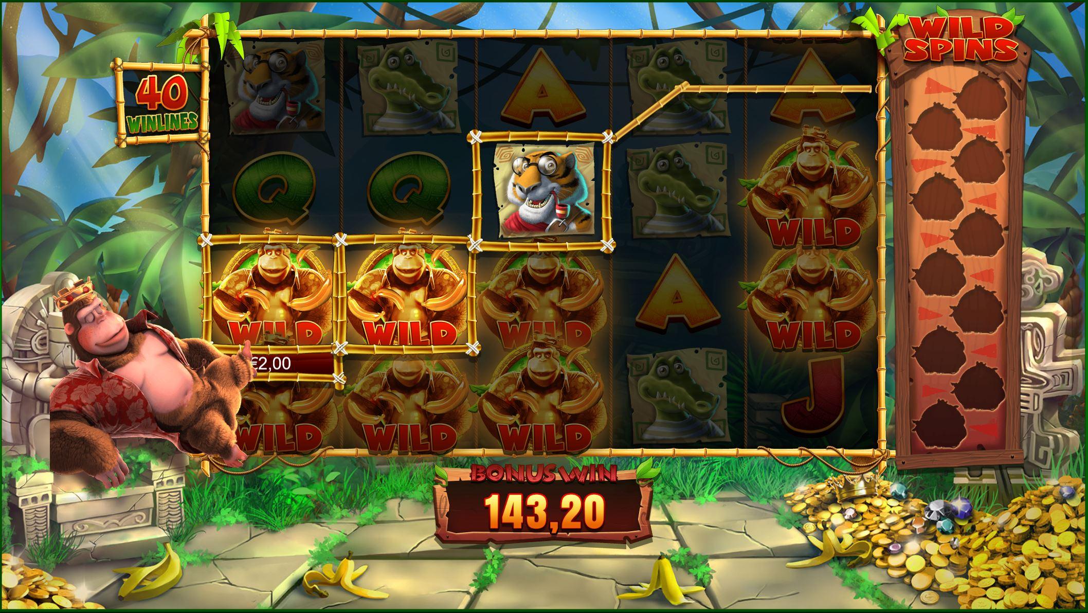 King Kong Cash bonus win on Golden