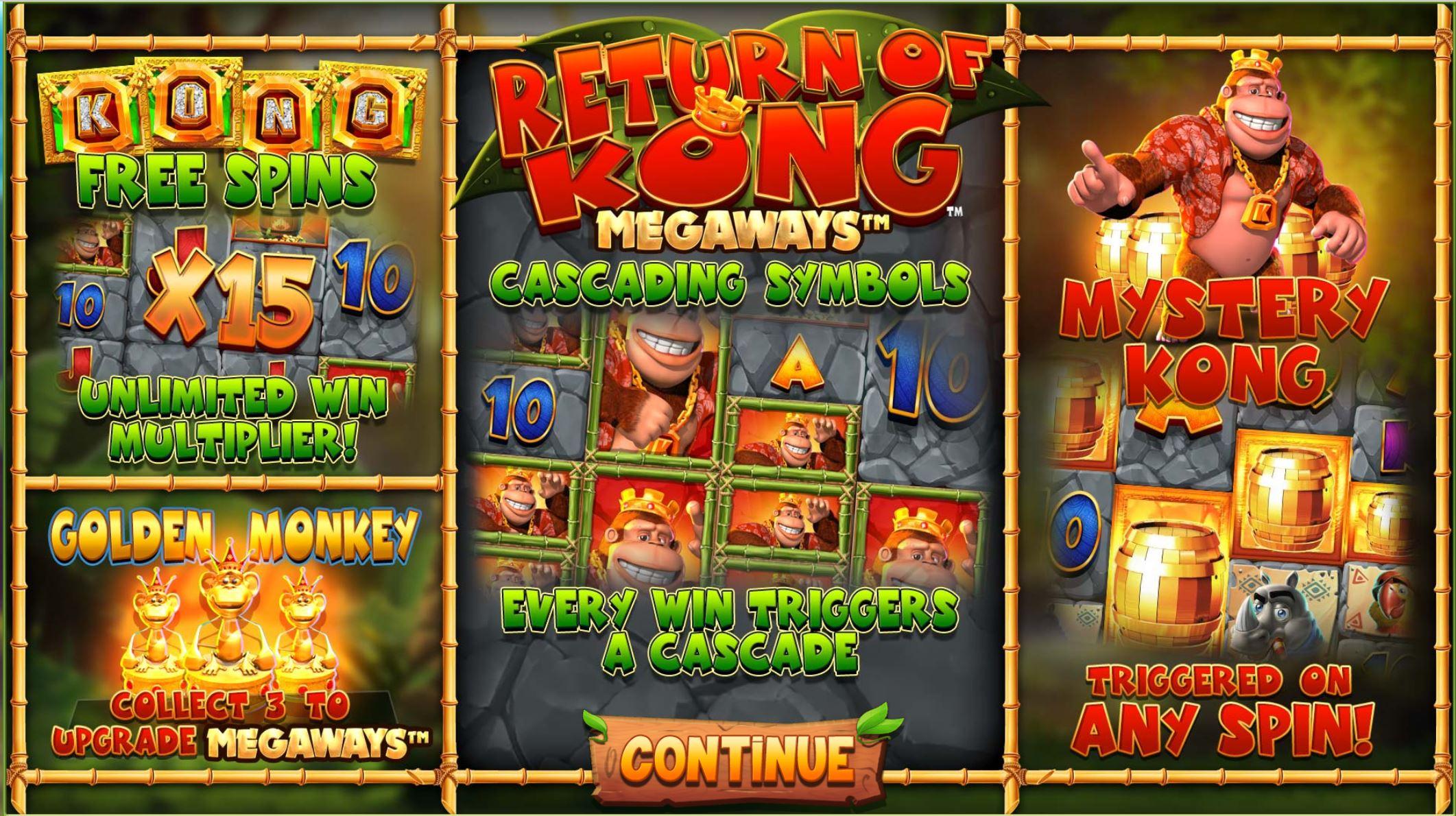 Return of Kong megaways info