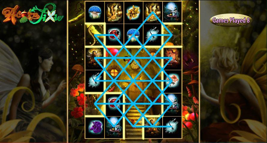 Acorn Pixie eight spin bonus game