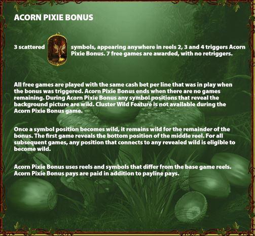 Acorn Pixie Bonus