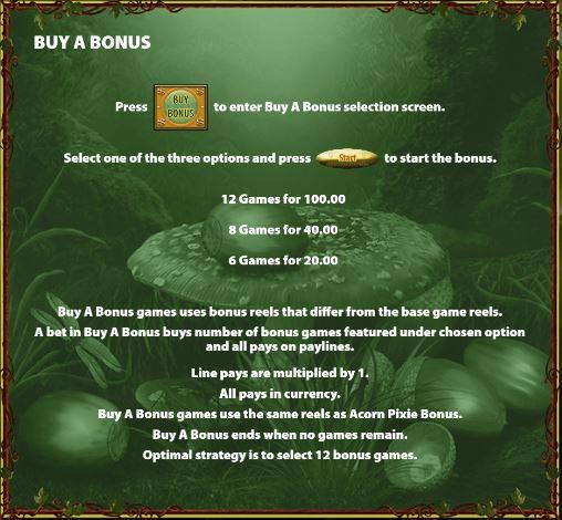 Buy a Bonus rules