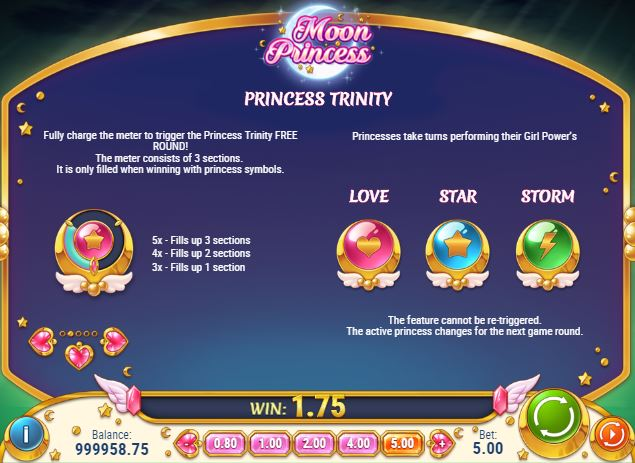 Paytable of Moon Princesspage 2