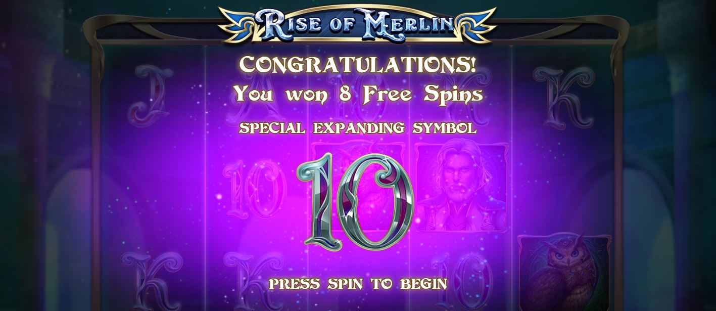 Eight Free Spins in Rise of Merlin