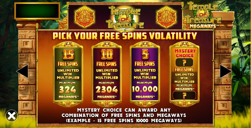 Free Spins choices