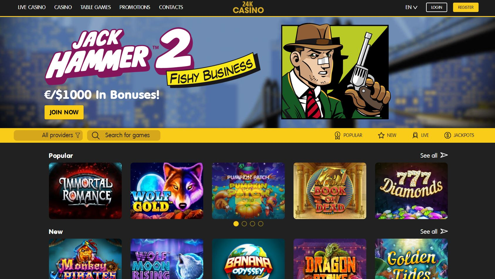 Home Page of 24k Casino