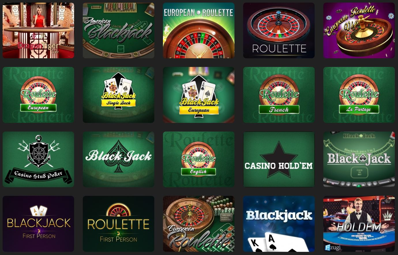 Table Games at 24kCasino
