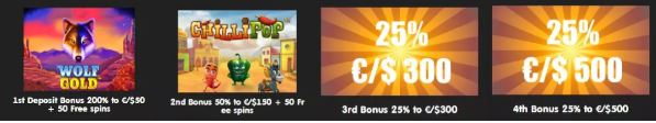 24k Casino welcome bonus