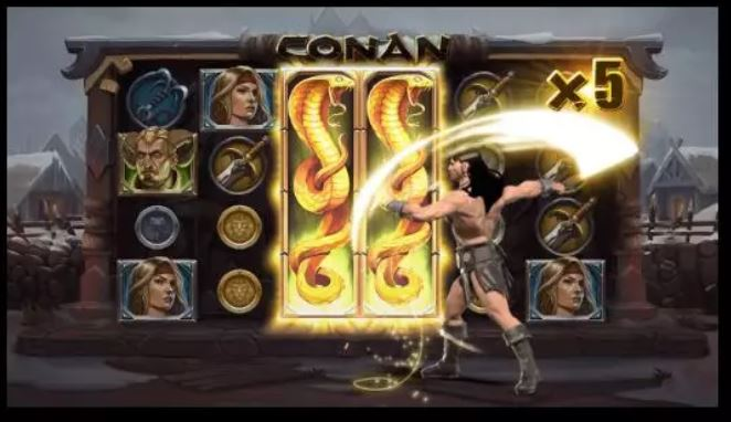 Conan netent Mystery Multiplier action