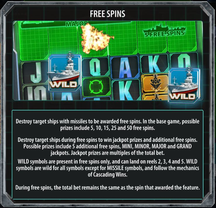 Free Spins in Battleship Direct Hit!