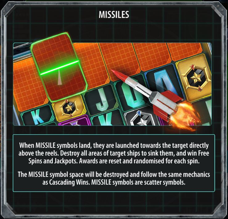 Missiles in Battleship Direct Hit!