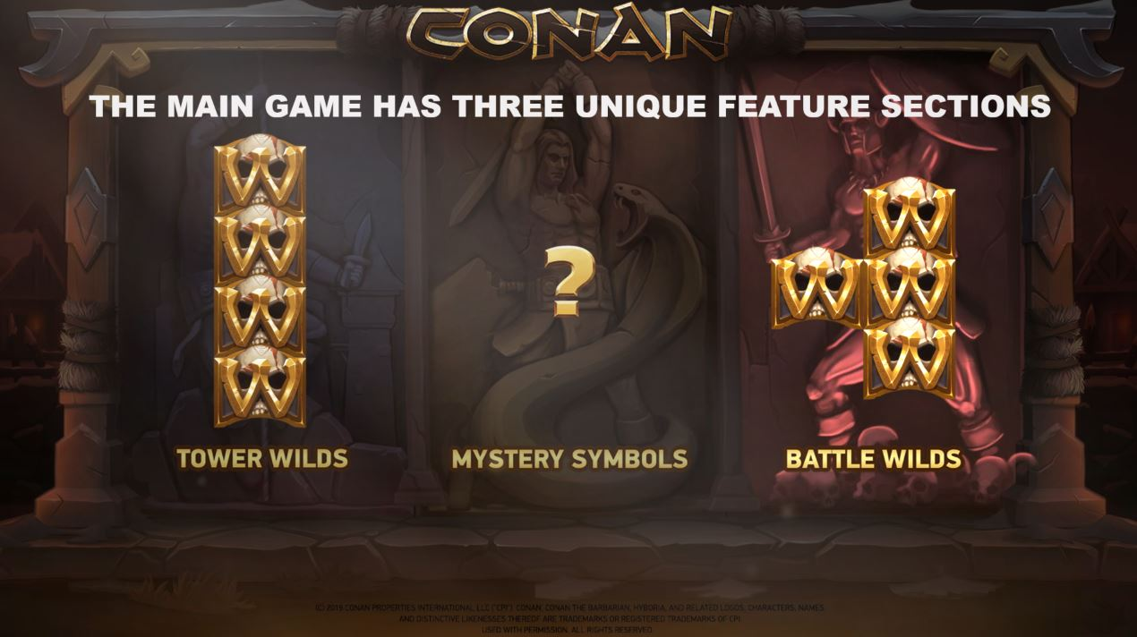 Second loading screen in Conan Online Slot from Netent