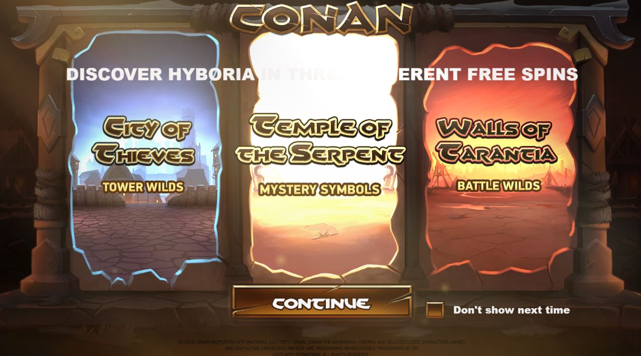 Loading Screen in Conan