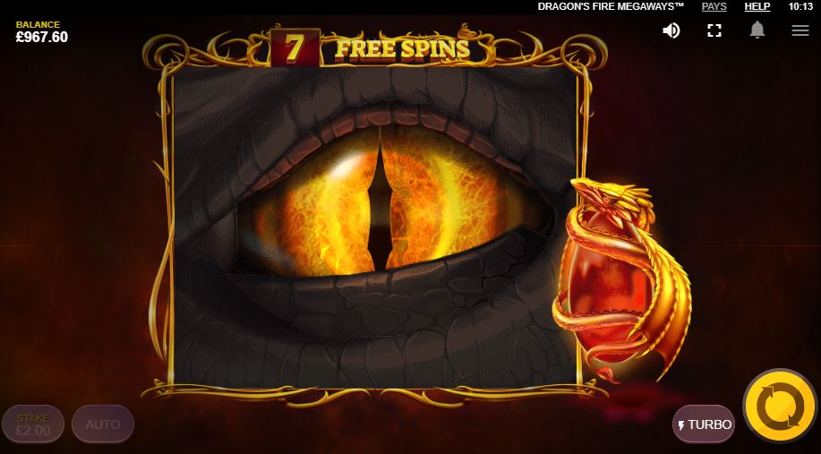 Dragons Eye in Free Spins