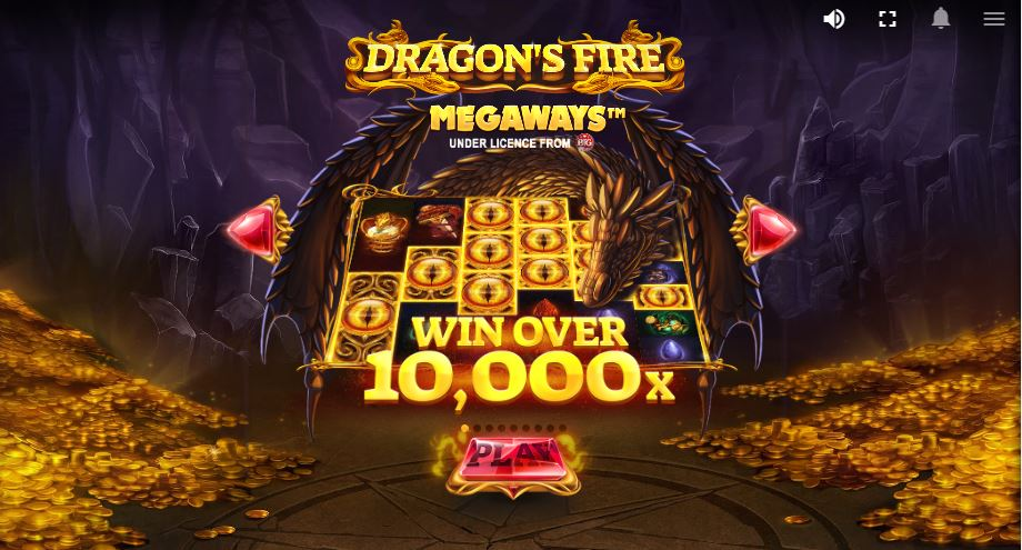 Loading Screen of in Dragons Fire MegaWays